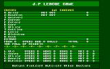 Cricket Captain Atari ST The scorecard before a ball has been bowled