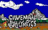 Caveman Ugh-Lympics DOS title screen - EGA