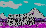 Caveman Ugh-Lympics DOS title screen - CGA
