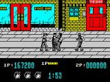 Target: Renegade ZX Spectrum Teasing three thugs in the shopping mall