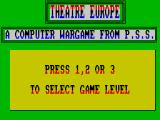 Theatre Europe ZX Spectrum Choose game style