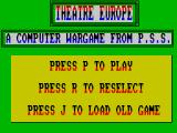 Theatre Europe ZX Spectrum Ready to go?