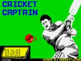Cricket Captain ZX Spectrum Loading screen