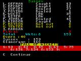 Cricket Captain ZX Spectrum The result was close though