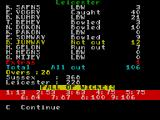 Cricket Captain ZX Spectrum Those totals would be poor for 1 innings, let alone 2