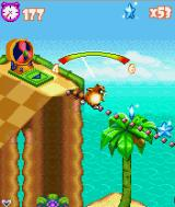 Tropical Madness J2ME Keep your balance while sliding by pressing 4 or 6.