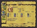 Legend of Mana PlayStation Menu: Status Screen