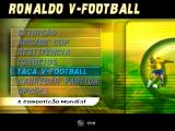 Ronaldo V-Football PlayStation Main menu