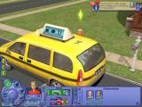 The Sims 2: University Windows The taxi will take you off to university.