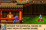 The Revenge of Shinobi Game Boy Advance Visit sensei Ishii to learn of the mission.