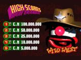 Psycho Pinball DOS Default scores for Wild West