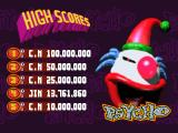 Psycho Pinball DOS Default scores for Psycho