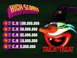 Psycho Pinball DOS Default scores for Trick or Treat