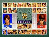 The King of Fighters '96 PlayStation Character selection