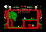 Dizzy: The Ultimate Cartoon Adventure Amstrad CPC The mine entrance.