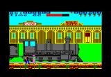 Express Raider Amstrad CPC Defeat the banker before boarding the train.