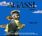 Andre Agassi Tennis SNES Title screen