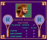 Andre Agassi Tennis SNES Selecting a player