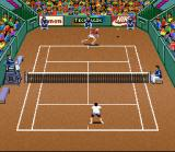 Andre Agassi Tennis SNES Baseline earns a point