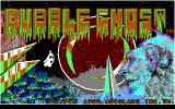 Bubble Ghost DOS Main title screen