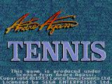 Andre Agassi Tennis SEGA Master System Title screen