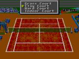 Andre Agassi Tennis SEGA Master System Court selection
