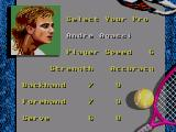 Andre Agassi Tennis SEGA Master System Player selection