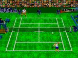 Andre Agassi Tennis SEGA Master System Serving in Grass Court