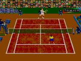 Andre Agassi Tennis SEGA Master System A Forehand in Clay Court