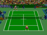 Andre Agassi Tennis SEGA Master System Preparing to return in Hard Court