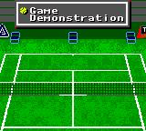 Andre Agassi Tennis Game Gear main menu