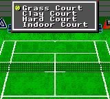 Andre Agassi Tennis Game Gear Selecting court
