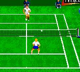 Andre Agassi Tennis Game Gear Grass Court. Unlike the other versions, due to the small screen there's a lot of scrolling