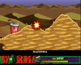 Worms: The Director's Cut Amiga Direct hit, the blast also tosses mines around