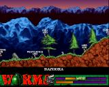 Worms: The Director's Cut Amiga Forest world, incoming missile