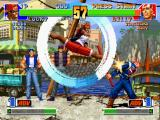 The King of Fighters '98: The Slugfest PlayStation Billy Kane's guard is open, and he's forced to feel the impact of Lucky Glauber's Cyclone Break...