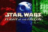 Star Wars: Flight of the Falcon Game Boy Advance Title screen.