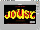 Joust Macintosh Title screen