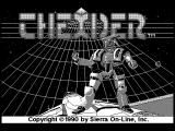 Thexder Macintosh B/W titlescreen