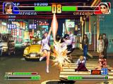 The King of Fighters '98: The Slugfest PlayStation With the 4 successful hits of Athena Asamiya's Psycho Sword, Chizuru Kagura goes to the heights!