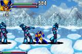 X-Men: Reign of Apocalypse Game Boy Advance Surrounded by enemies.