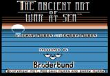 The Ancient Art of War at Sea Apple II Title screen.