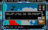 The Computer Edition of Risk: The World Conquest Game Atari ST Army limitation is one of the options