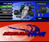 Newman/Haas IndyCar featuring Nigel Mansell SNES Simulation adds car setup options, which