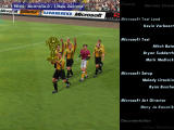Microsoft International Soccer 2000 Windows Australia does a lap of honor as the credits roll.