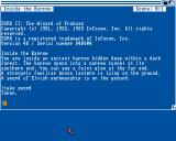 Zork II: The Wizard of Frobozz Amiga Starting location