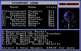 Star Command DOS Outfitting the ship with weapons.