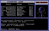 Star Command DOS ... as well as pay and promotions. Hey look, I'm a Commander now!