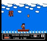Hammerin' Harry NES Riding a boat
