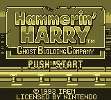Hammerin' Harry: Ghost Building Company Game Boy Title